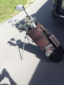 Golf set + bag left-handed/Lot de bâtons gaucher + sac
