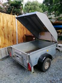 Ifor Williams trailer with lockable hardtop.