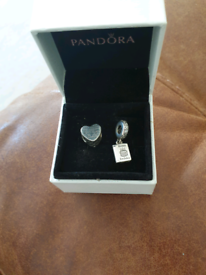 2 Pandora charms one Happy birthday and heart charms £40