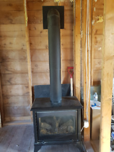 gas wood stove