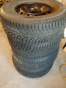 4 - 265 70 17 Sailun Ice Blazer Winter Tires With Rims - Ford F1