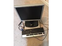 Hd Compag Dc7900 Small Form Factory Desktop With Monitor, Keyboard & Mouse .