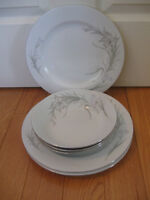 SIX PIECES of CHINA DINNERWARE...[3 SOUPS /  3 DINNER PLATES]