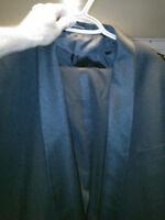 Men's 2 pc Black Tuxedo size 48 & 42 pants waist excellent cond