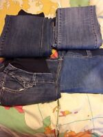 3 Pairs of Maternity Jeans & Skirt sizes M & L