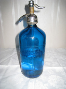 Cobalt Blue Seltzer Bottle