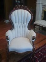 Victorian lady and gentleman chairs