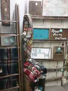Ladders, wooden stars kilts, signs plus 600 booths