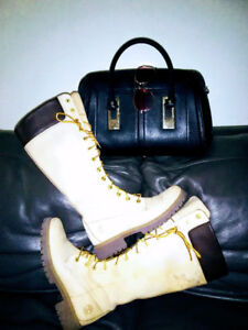 "Size 7 Woman Timberland Boots 14""  reg price 260 Sale price 100!"