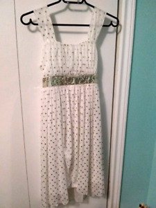 Gurls dress & sandals. Size 14