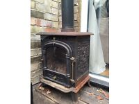 WOOD BURNING STOVE CAST IRON VERY PRETTY