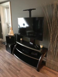 FLAT-SCREEN TELEVISION AND TV STAND