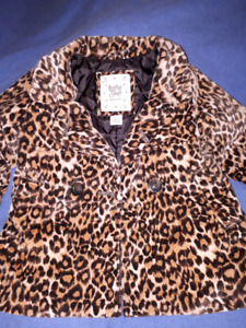 Leopard Baby Gap Girls Coat Size 2T Like New