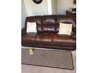 Antique Leather 3 piece suite