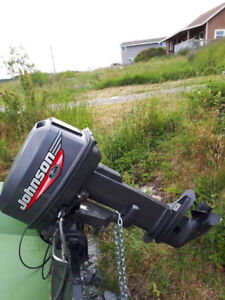 30 Hp. Johnson Outboard Electric Start And Controls