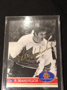 5 Cartes Hockey Signée -Serie Russe vs Canada '72