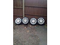 "Corsa c exclusive 2005 16"" alloys with good tyres 07594145438"
