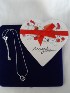 """BN, """"Magnolia"""" Sterling Silver Necklace and Pendant"""