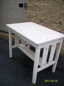 SMALL OAK LIBRARY TABLE - REFINISH OR PAINT