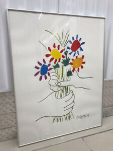 "Picasso ""Bouquet of Peace"" Framed Poster - Used"