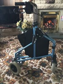 Lightweight Aluminium Tri Walker for Both outdoor and indoor use Mint !