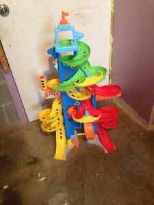 module auto parc de poupee chariot lego