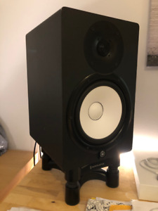 Yamaha HS80 studio monitors with ISO Acoustics stands