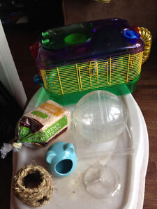 For Sale: Multi-Color Hamster Cage Plus Accessories