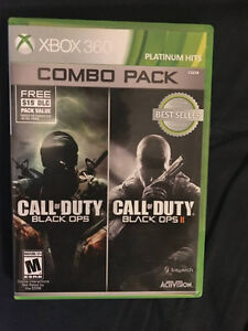 Combo pack call of duty black ops 1 and 2 xbox 360 game