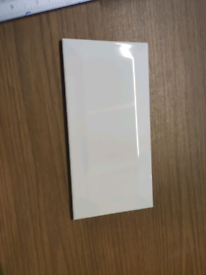 B & Q white ceramic tiles