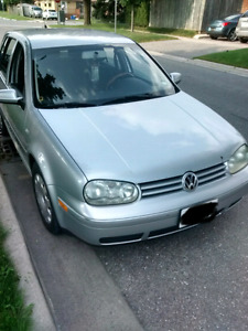 Manual 2.0 Litre Golf for sale.  $2300 O.B.O.