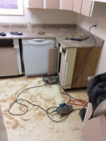 old countertops removal and new countertops installation we supp
