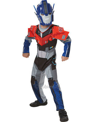 Kids Transformers Deluxe Optimus Prime Deluxe Fancy Dress Childs Costume Outfit