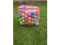Bag of children's plastic balls