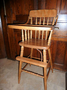 Solid Wood Baby High Chair