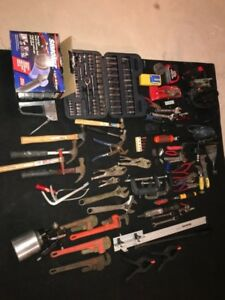 ASSORTED TOOLS & TOOL BOX