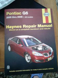 Pontiac G6 repair manual 2005 -2009