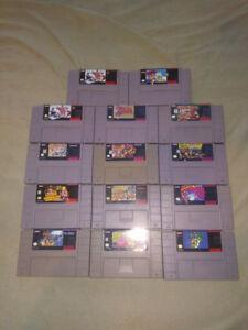 jeux de SNES / super nintendo games for sale / a vendre