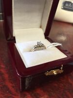 14k yellow gold ring size 6 engagement ring