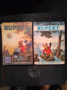 Two Rupert books from 1968, 1970.