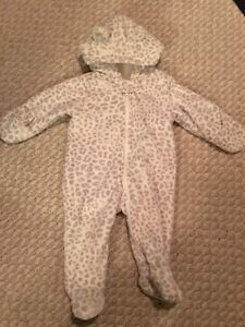 Carter's Fleece Bunting Suit size 3 months