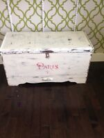 Distressed decor trunk
