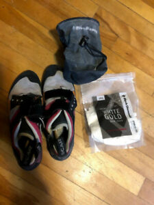 Scarpa climbing shoes Size 9W/8M and Chalk