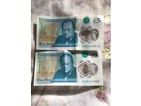 AC06,AC07 new fiver note for sale