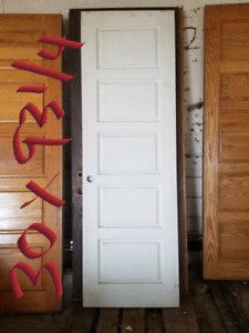 Solid Wood Doors, Painted White.