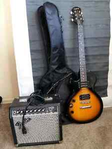Epiphone Electric Guitar with Fender Amplifier