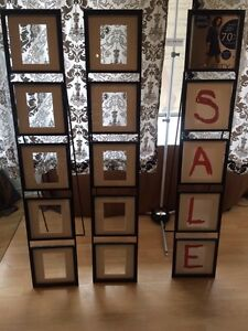 Set of 3 Wrought iron photo display stands