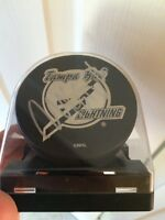 Hockey Puck signed by Martin Saint-Louis
