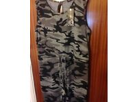 Camouflage jumpsuit size 10 newlook