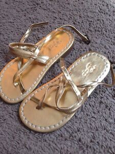 Baby Gap Gold Sandals Shoes Baby Toddler Sz 8
